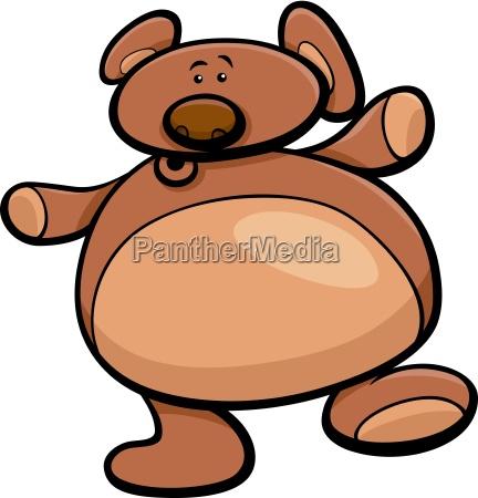 teddy bear cartoon illustration