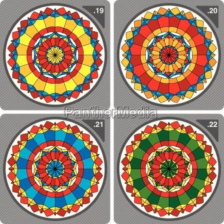 colorful kaleidoscope vector