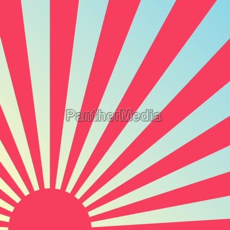abstract retro sunrise background vector