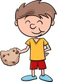 boy with cookie cartoon
