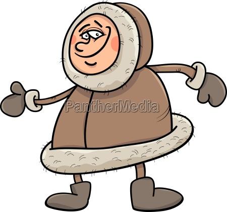 eskimo cartoon illustration