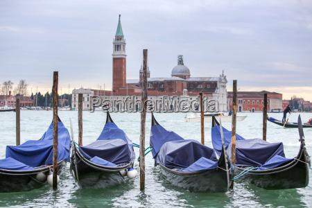 gondolas with view of san giorgio