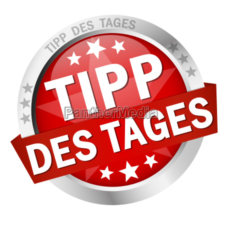 button with banner tipp des tages