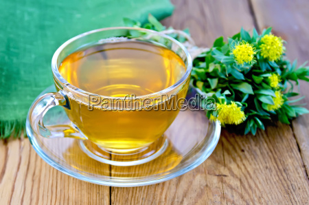 herbal tea with a bouquet of