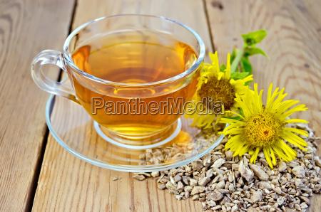 herbal tea from root of elecampane