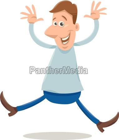 excited man cartoon illustration