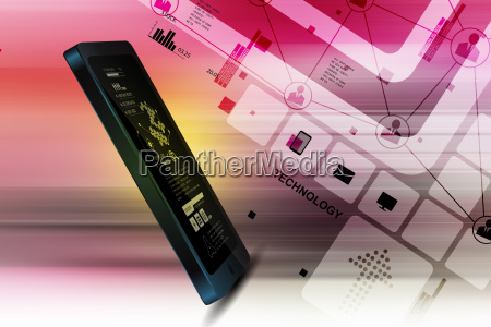 tablet in attractive background