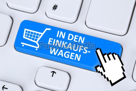 in den einkaufswagen online shopping einkaufen