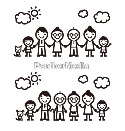 einfache familie illustration