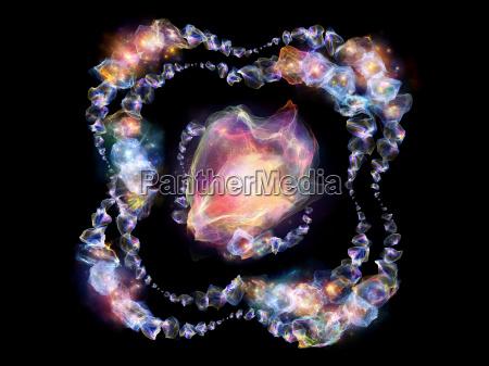 bluetenblaetter von juwelen