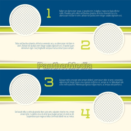 infographic design mit kreis foto container