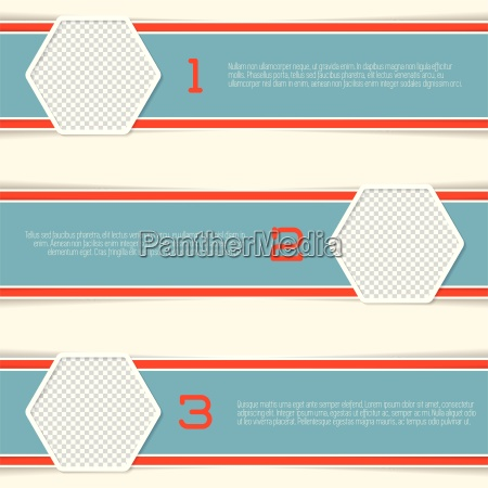 infographic design with hexagon photo containers