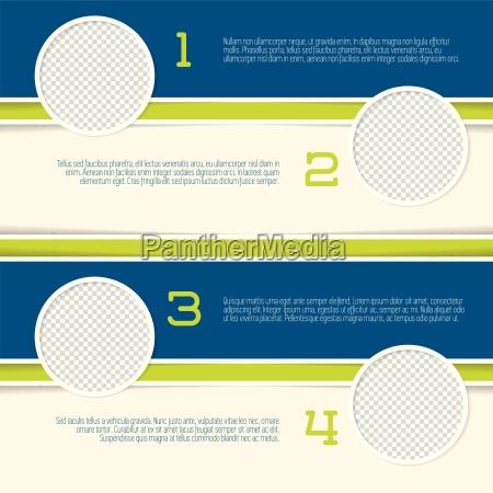 infographic, design, mit, kreis-foto-container - 14326861