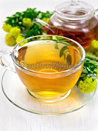 tea of rhodiola rosea in cup