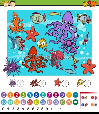educational math game cartoon
