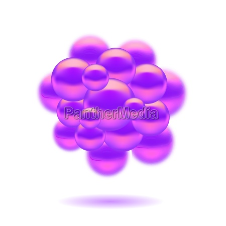 abstract molecules design set molecules spheres