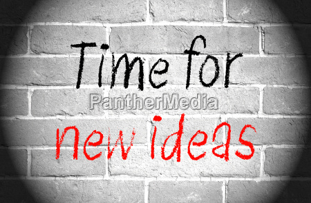time for new ideas