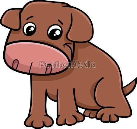 little dog cartoon character
