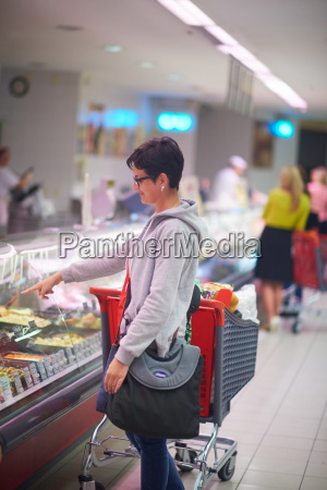 woman in supermarket