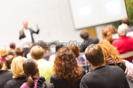 audience in the lecture hall
