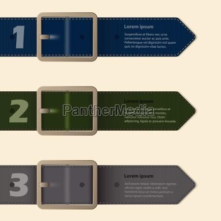 belt buckle stationery design