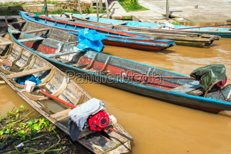 canoes in the amazon