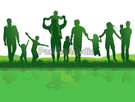 familien in der natur