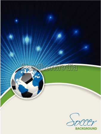 abstract soccer brochure with bursting map