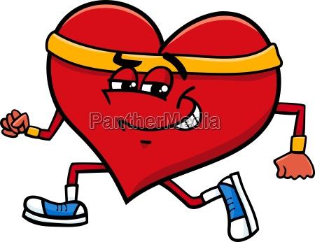 sporty heart cartoon character