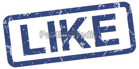 blue stamp like