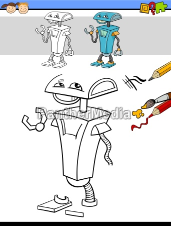drawing and coloring task with robot
