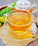 tea of rhodiola rosea in glass