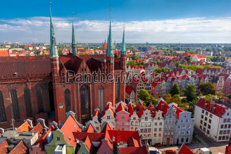 st mary church in gdansk poland
