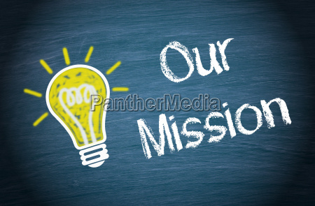 our mission light bulb with