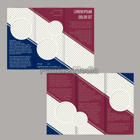 tri fold flyer brochure template with