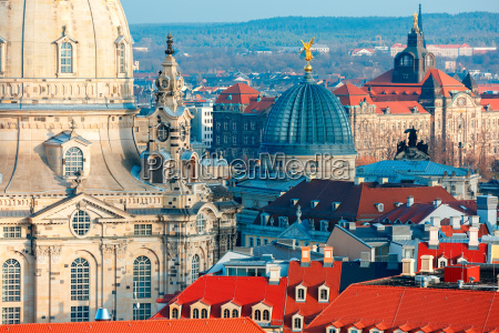 aerial view of domes and roofs