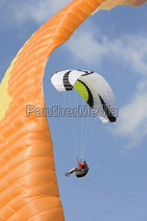 paraglider up in the air