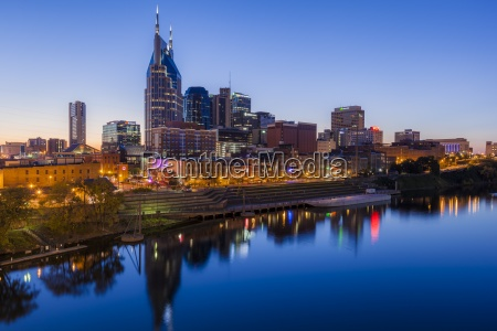 usa tennessee nashville and cumberland river