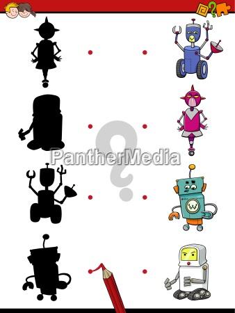 preschool shadow activity with robots