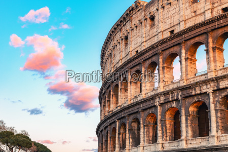 colosseum at sunset