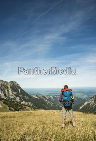 austria tyrol tannheimer tal young hiker
