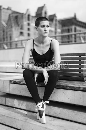 germany hamburg portrait of female ballet