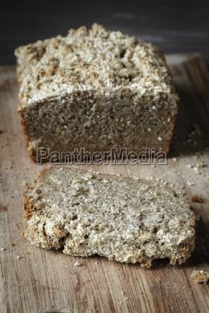 home baked glutenfree buckwheat bread on