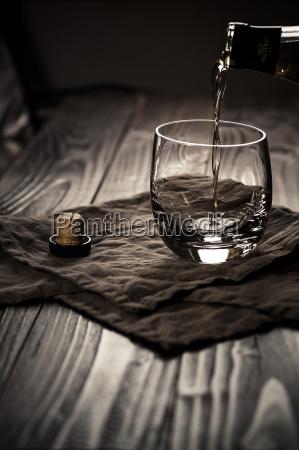 scotch single malt whiskey being poured