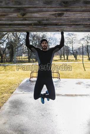 spain gijon athlete exercising in park