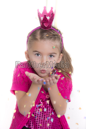 portrait of little girl masquerade as