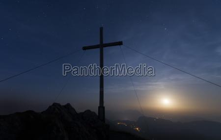 austria tyrol summit at full moon