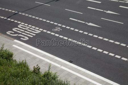 germany hamburg view of empty street