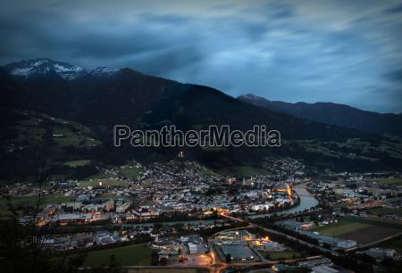austria tyrol schwaz district view to