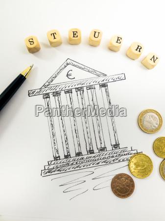 drawing of a tax office ballpen